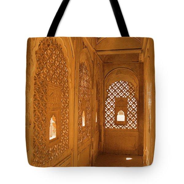 Skn 1241 Carved Niche Tote Bag by Sunil Kapadia