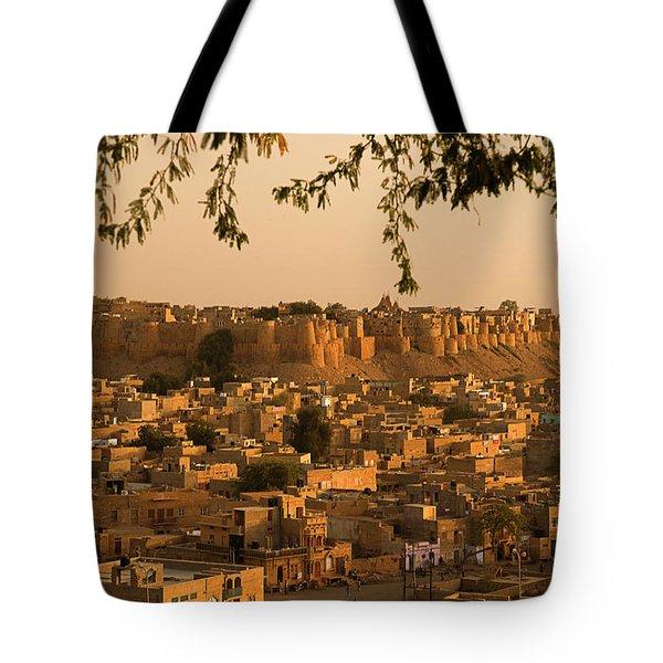 Skn 1334 Golden City Tote Bag