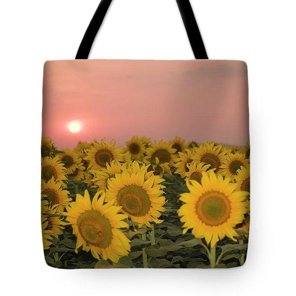 Skn 2179 Sunflower Landscape Tote Bag