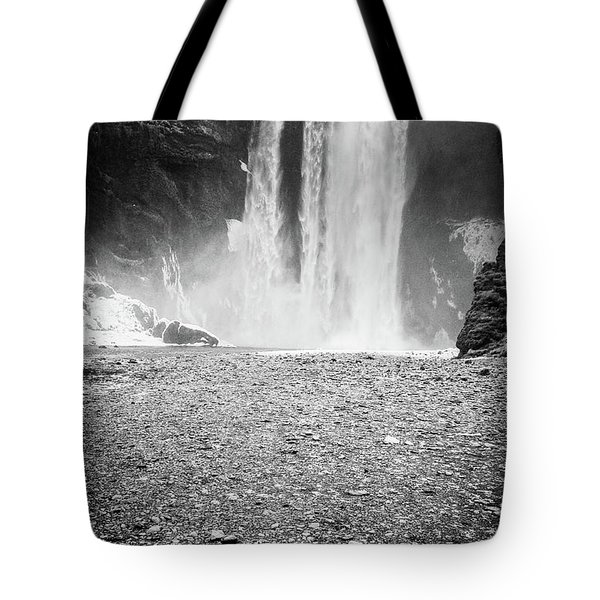 Skogafoss In Winter Tote Bag