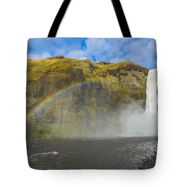 Skogafoss Rainbow Tote Bag