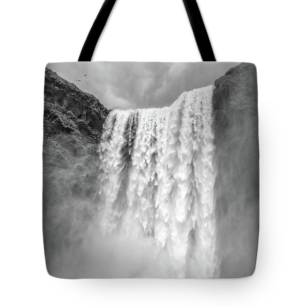 Tote Bag featuring the photograph Skogafoss Waterfall Iceland by Edward Fielding