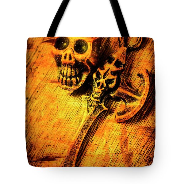 Skull And The Sword Tote Bag
