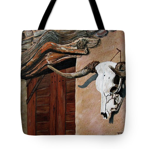 Skull En La Casa Tote Bag