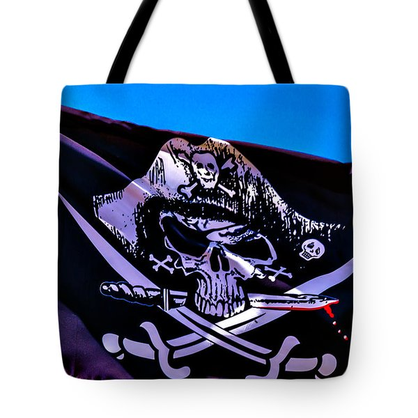 Skull Flag With Dagger Tote Bag