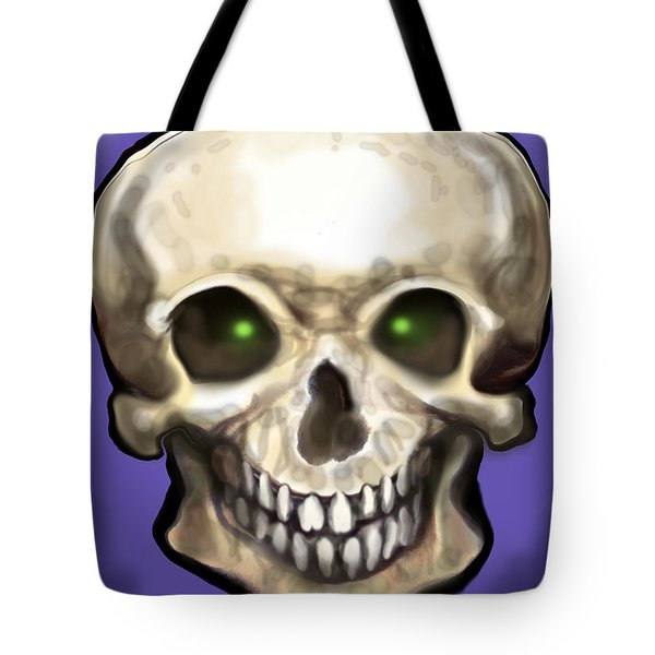 Skull Tote Bag by Kevin Middleton