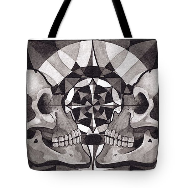 Skull Mandala Series Nr 1 Tote Bag by Deadcharming Art