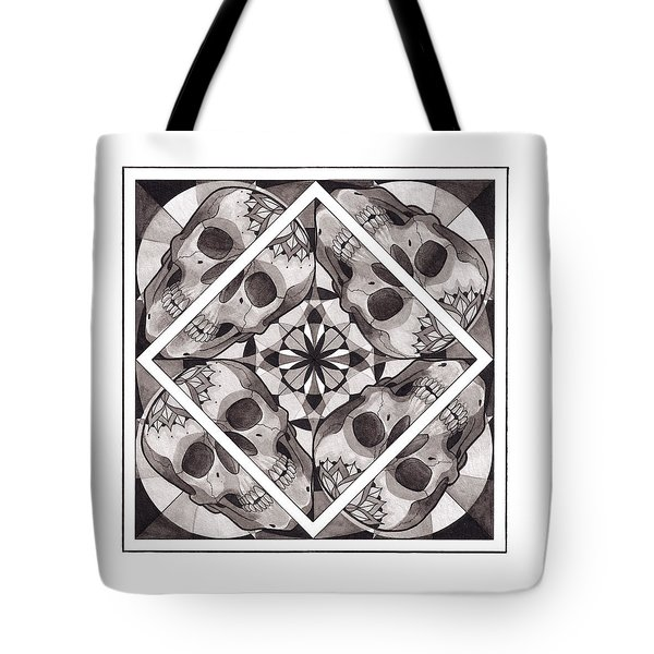 Skull Mandala Series Number Two Tote Bag by Deadcharming Art