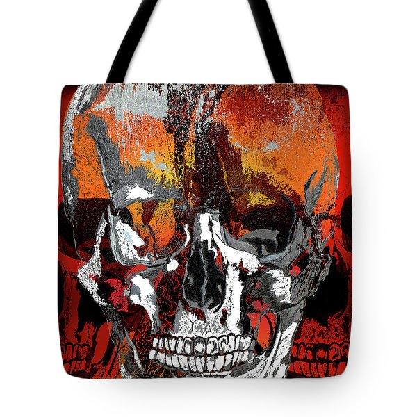 Skull Times Three Tote Bag