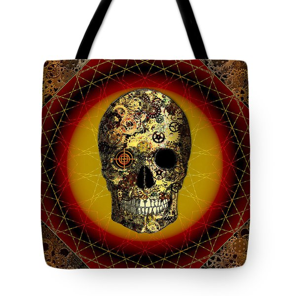Skullgear Tote Bag by Iowan Stone-Flowers