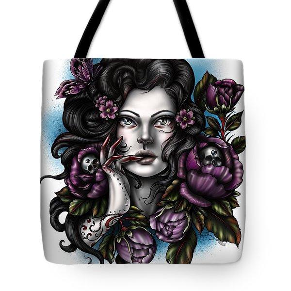Skulls And Roses Tote Bag