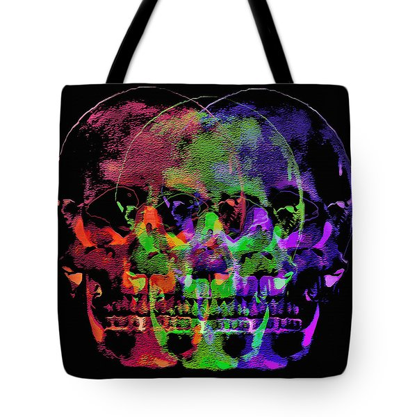 Skulls - Multi-color Abstract Tote Bag