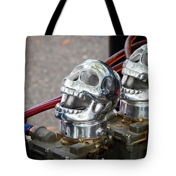 Tote Bag featuring the photograph Skully by Chris Dutton