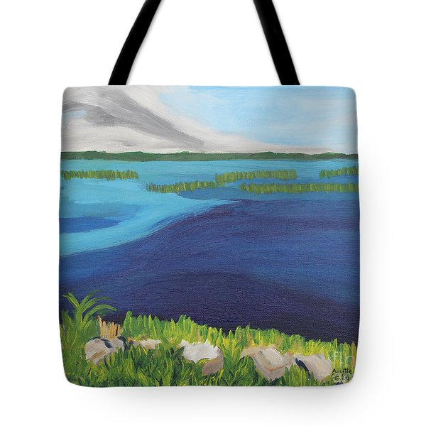 Serene Blue Lake Tote Bag