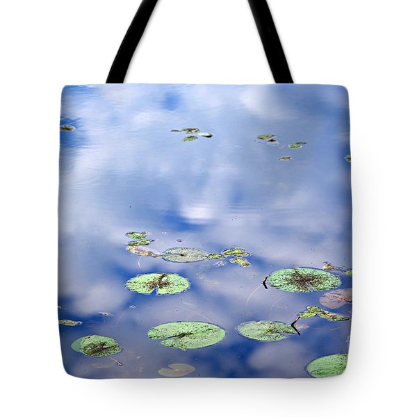 Tote Bag featuring the photograph Sky And The Lily Pads by Lila Fisher-Wenzel