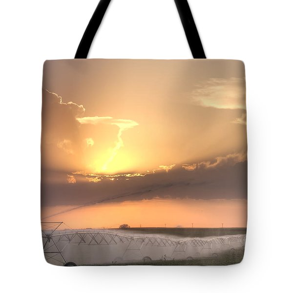 Sky And Water Tote Bag by Art Whitton