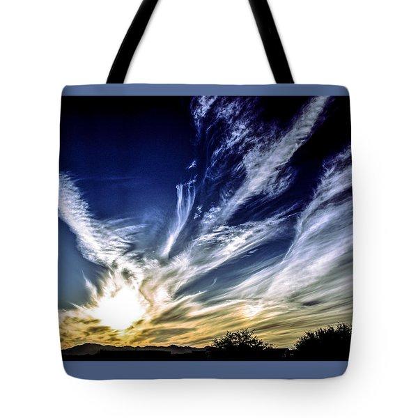Sky Artistry Over Chandler Arizona Tote Bag