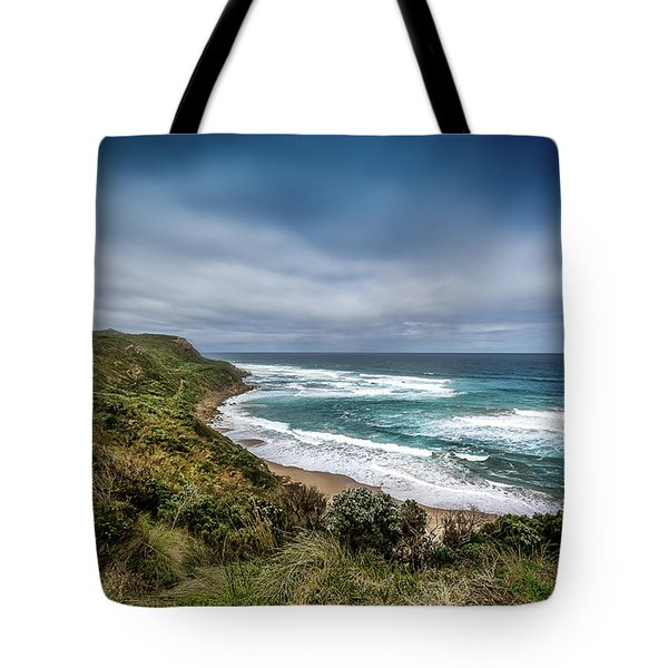Tote Bag featuring the photograph Sky Blue Coast by Perry Webster