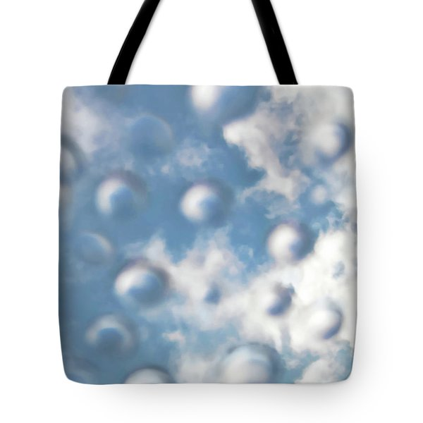 Tote Bag featuring the digital art Sky Bubbles by Menega Sabidussi