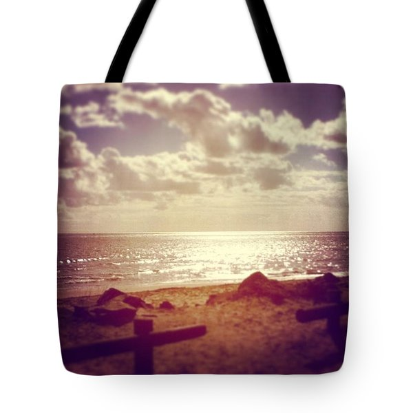 #sky #clouds #beach #beautiful Tote Bag