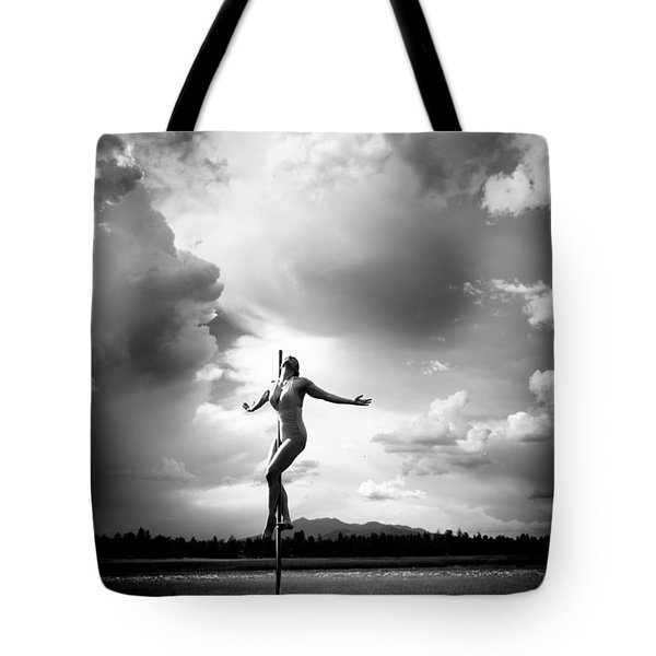 Sky Dancing Tote Bag