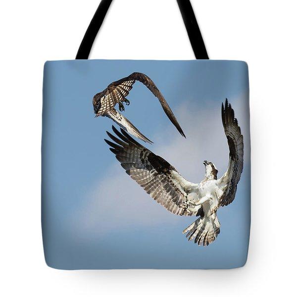 Sky Duel Tote Bag