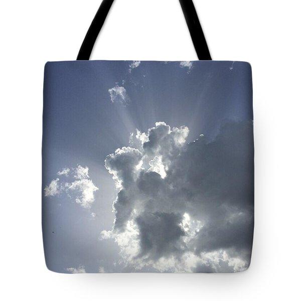 Sky Elephant And Friends Tote Bag