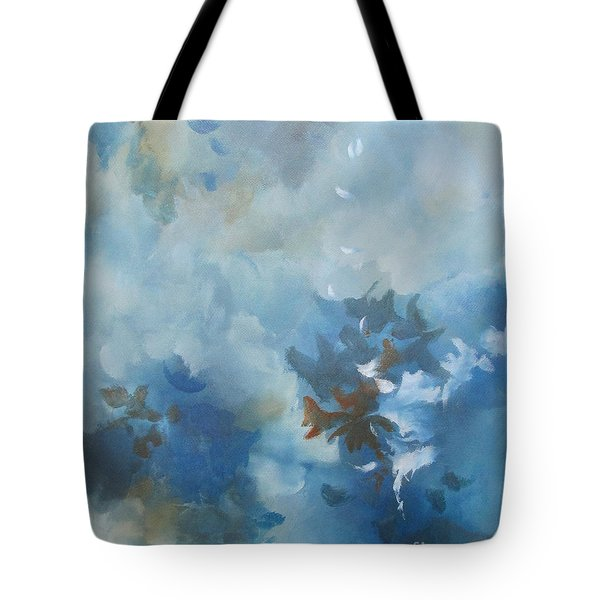 Tote Bag featuring the painting Sky Fall I by Elis Cooke