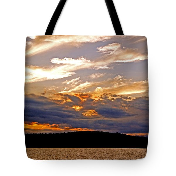 Tote Bag featuring the photograph Sky Fire by Lynda Lehmann