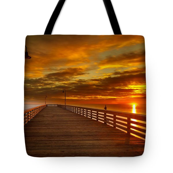 Sky Fire Tote Bag by Tim Bryan