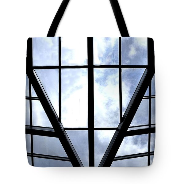 Sky Grid Tote Bag by Nadalyn Larsen