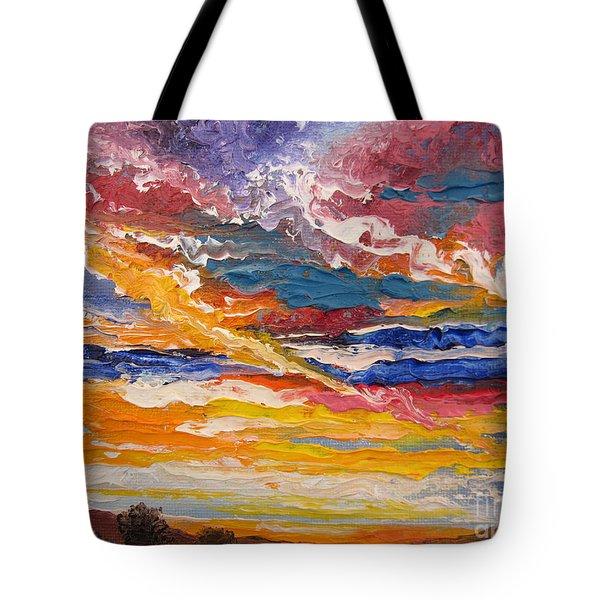 Sky In The Morning.             Sailor Take Warning  Tote Bag