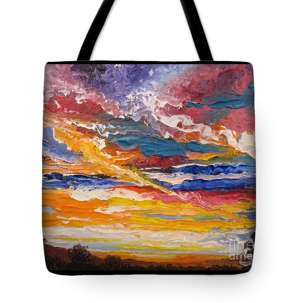 Sky In The Morning.             Sailor Take Warning  Tote Bag