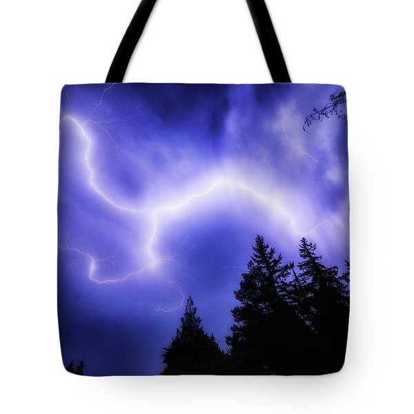 Sky Lightning Tote Bag