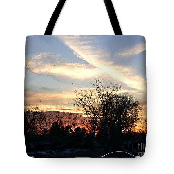 Sky Message Tote Bag by Desline Vitto