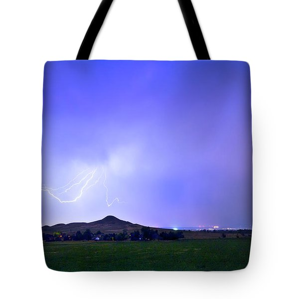 Tote Bag featuring the photograph Sky Monster Above Haystack Mountain by James BO Insogna