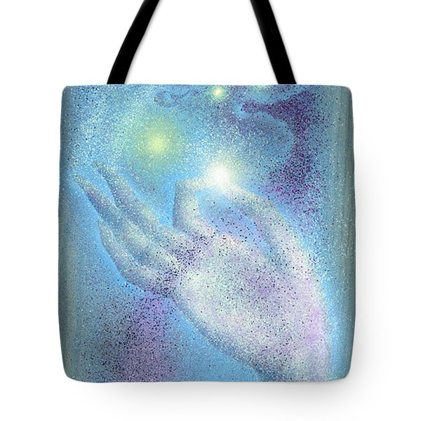 Tote Bag featuring the painting Sky Mudra by Ragen Mendenhall