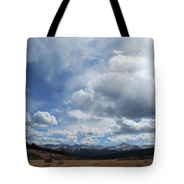 Sky Of Shrine Ridge Trail Tote Bag by Amee Cave