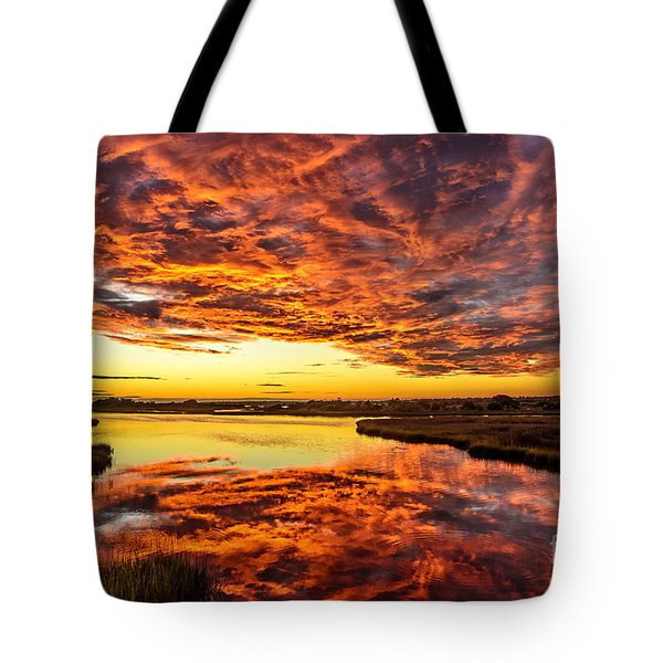 Sky On Fire Tote Bag