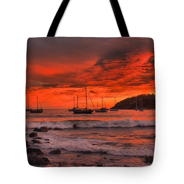 Sky On Fire Tote Bag by Jim Walls PhotoArtist