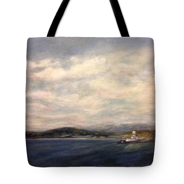 Tote Bag featuring the painting The Port Of Everett From Howarth Park by J Reynolds Dail