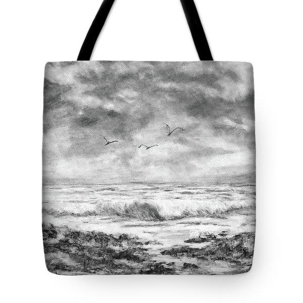 Sky Rocks And Water Tote Bag