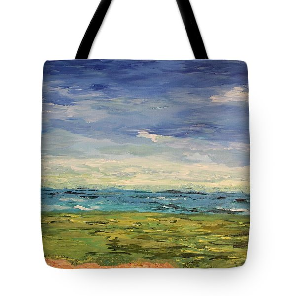Sky, Sea And Golf  Tote Bag