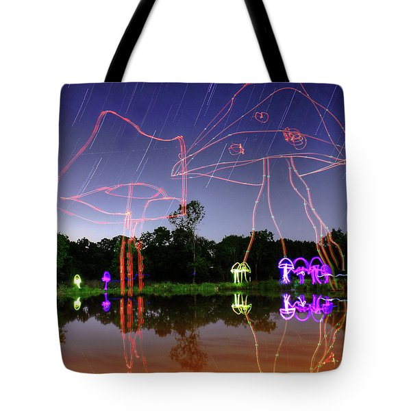 Sky Shrooms Tote Bag