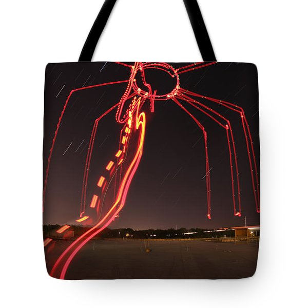 Sky Spider Tote Bag by Andrew Nourse