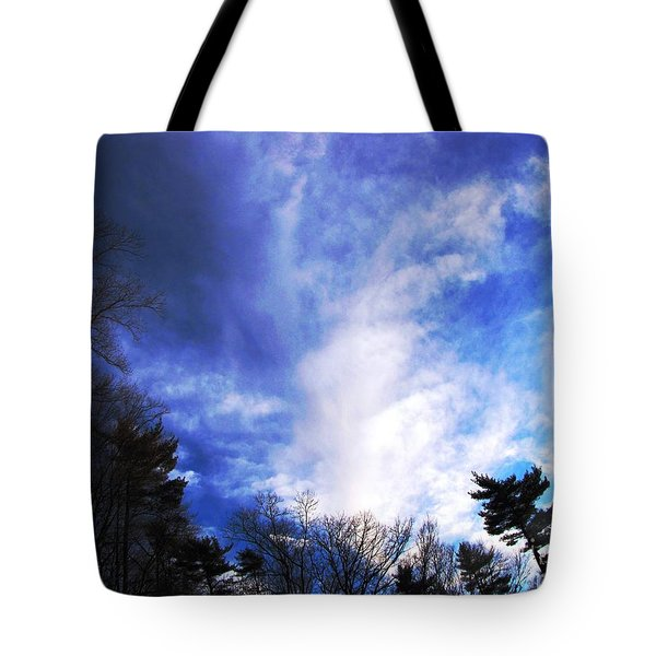 Tote Bag featuring the photograph Sky Study 4 3/11/16 by Melissa Stoudt