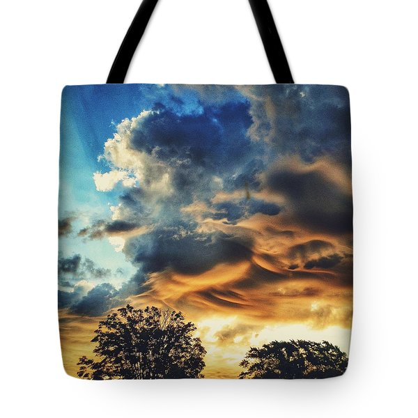 Tote Bag featuring the photograph Sky Surf by Nikki McInnes