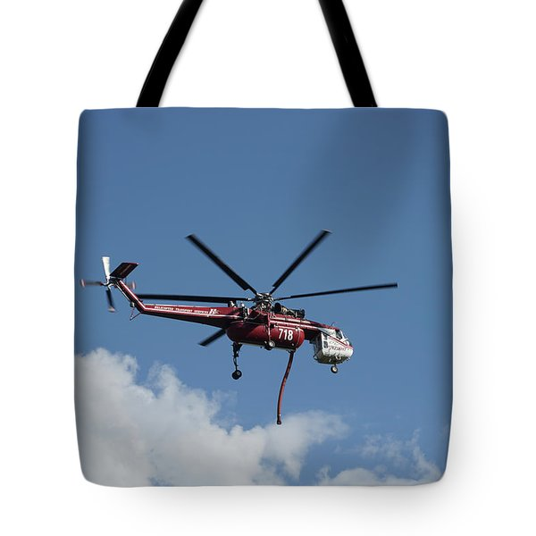 Skycrane Works The Red Canyon Fire Tote Bag