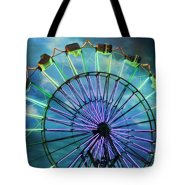 Skydiver At Night Tote Bag