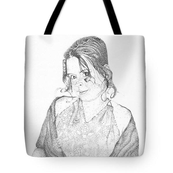 Tote Bag featuring the drawing Skye by Mayhem Mediums
